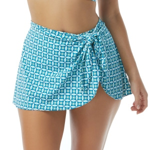 Contours by Coco Reef Halo Sarong Swim Skirt - Pacifico