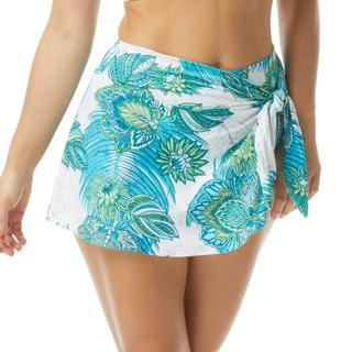 Coco Contours Halo Sarong Swim Skirt - Lotus Garden
