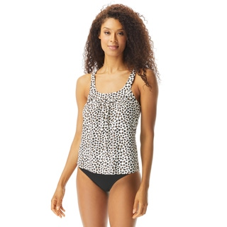 Coco Reef Ultra Fit Bra Sized Underwire Tankini Top - Cheetah
