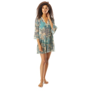 Coco Reef Enchant Bell Sleeve Cover Up Dress - Zanzibar