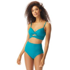 Coco Reef Icon Twist Bra Sized Longline Underwire Bikini Top - Luxe Texture