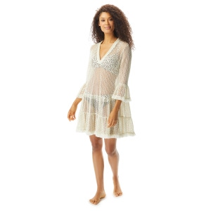 Coco Reef Enchant Bell Sleeve Cover Up Dress - Ivory Coast Crochet