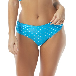 Coco Reef Side Shirred Bikini Bottom - Tropical Spot