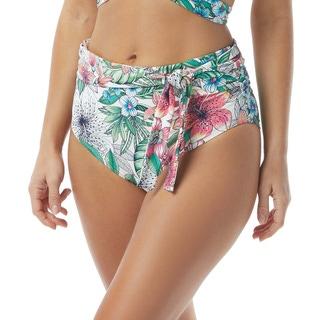 Coco Reef Royale Belted High Waist Bikini Bttom - Aloha Allure