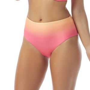 Coco Reef Verso Convertible Reversible High Waist Bikini Bottom - Sunset Fade