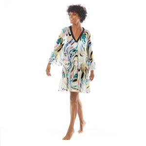 Coco Reef Enchant Cover Up Dress - Retro Swirl