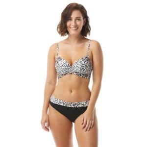 Coco Reef Enrapture Bra Sized Wrap Underwire Bikini Top - Wild Card